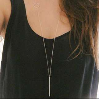 Long bar & many more necklaces