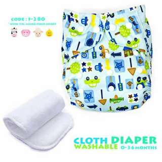 Cloth Diaper with FREE 1pc Microfiber Insert