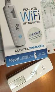 二手 9成新 Alcatel ONE TOUCH LINK W800 4G WiFi LTE Internet Key