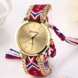 Jam tangan rantai anyaman