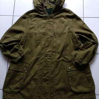 Jaket parka army green