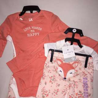 "Carter's 3 pc. Set ""Love makes me happy"""
