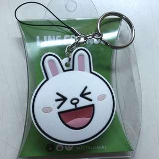Line 兔子 鑰匙圈 手機吊飾