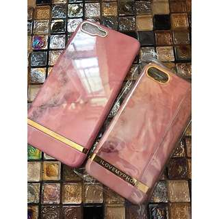 iphone7 iphone8 i love my phone design pink mable case 256gb joyce lane crawford charles & keith ted baker bag 外國設計粉紅雲石硬殼手機套 保護殻