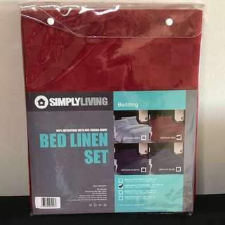 Full Set Super single bed Sheet (Brand New)