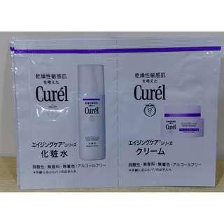 Curel 珂潤 逆齡彈潤(精萃水0.7ml+水凝霜0.5g)*4組