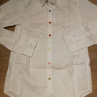 Beams slim white shirt 白恤衫