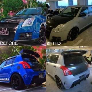 suzuki swift full wrap in matte grey