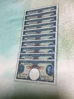 1941 king George VI $1