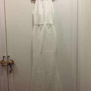 White gown worn once