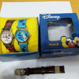 Disney watch 2隻加新錶帶1條