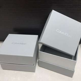 Calvin Klein paper bag and boxes