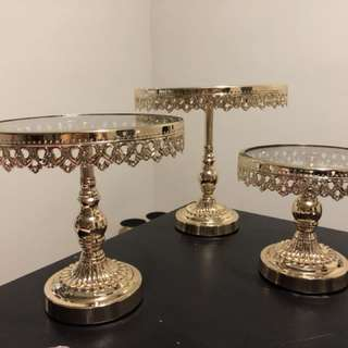 Cake stands for rent ( candy jars, holders and more)