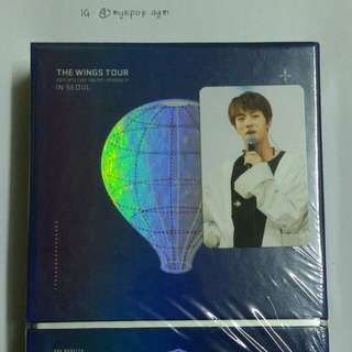 [FOR SALE] BTS THE WINGS TOUR IN SEOUL DVD + JIN PC + POSTER