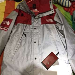 Supreme x The North Face MOUNTAIN JACKET red silver