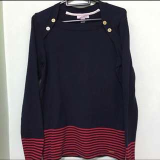 ❄️NAUTICA❄️ Authentic Women's/ Ladies Long Sleeve Winter Knitted Navy Blue Jacket/ Sweater/ Top (Size: M)