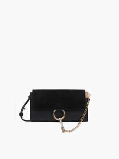 Chloe mini Faye black suede bag