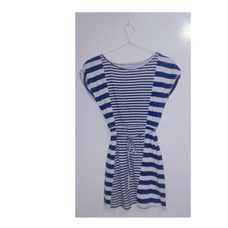 Stripe blue and white dress