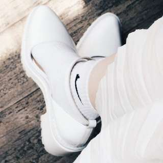 White platform shoes ankle strap