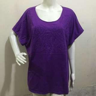BLAIR violet printed plus size ladies tshirt blouse xxl