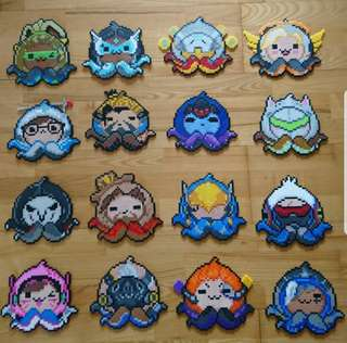 Hama beads design heroes from overwatch