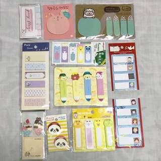 Set of Sticky Notes (11 sets)
