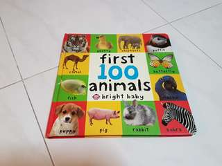 😊 First 100 Animals bright baby