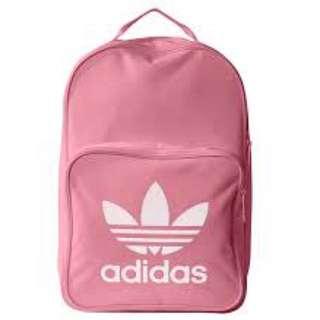 Adidas粉紅後背包
