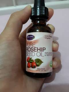 Life-flo Pure Rosehip Seed Oil. Cold Pressed. Organic
