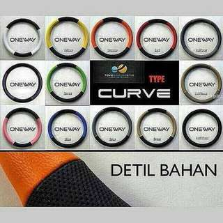 Cover Stir Sarung Setir Mobil Kulit Type Curve