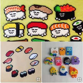Mini Cartoon Crafts Hama Designs