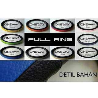 Cover Stir Sarung Setir Mobil Kulit  Type Full Ring
