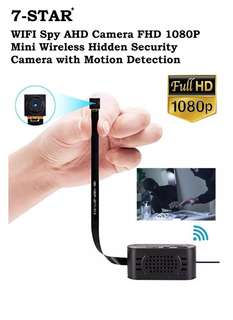 Wireless Spy Hidden Pinhole IP Cctv Camera - Spycam - Hidden cam - Mini Pinhole Ip cam (Full-HD 1080P/Rechargeable Battery/Own Hotspot Wifi/Motion Detect) 7-STAR*