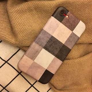 質感格紋手機殼