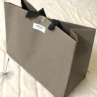 Thom Browne paper bag 40x30x17cm