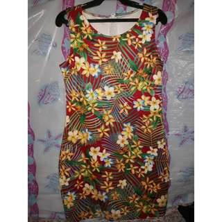 Floral Red Dress - Small to Medium frame