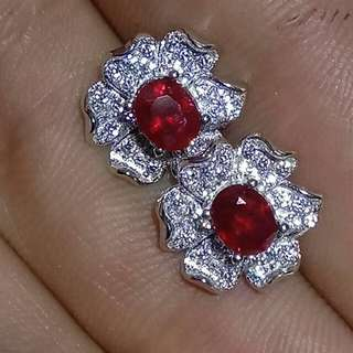 🎊Natural Red Ruby Different Designs Earrings🎊