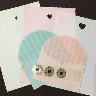 信套 Letter Set (5張信紙📃 2個信封✉️ 3張貼紙❤️)