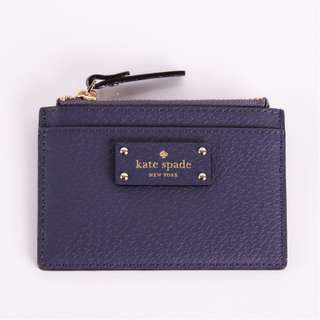 Kate Spade Adi Grove Street Leather Zip-Top Coin Holder Card Case Purse