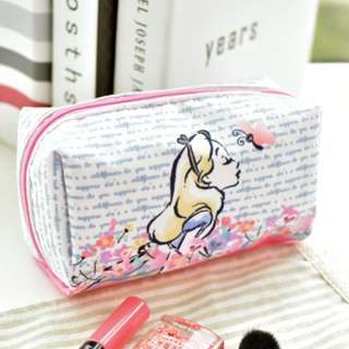 Alice Waterproof Pencil Case / Cosmetic Pouch
