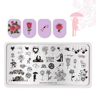 BORN PRETTY Nail Stamping Plate Nail Art Stencils For Nails Design Manicure Popular Plate Instruments Tool