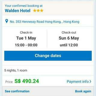 Hotel hong kong 5 nights 2 room