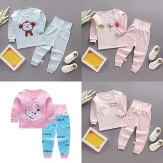 BMT373 - Boy / Girl PJ with High Waist Pants *Cotton*
