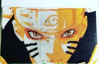 Hama beads design Anime Naruto shippuden naruto uzumaki sage mode
