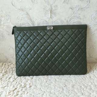 Chanel Lambskin O Case Large