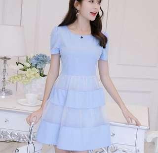 Sky blue versatile dress