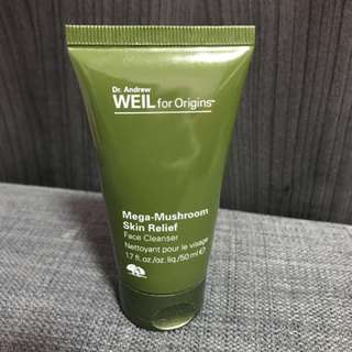 DR. ANDREW WEIL FOR ORIGINS™ MEGA-MUSHROOM SKIN RELIEF FACE CLEANSER - 50ml travel size