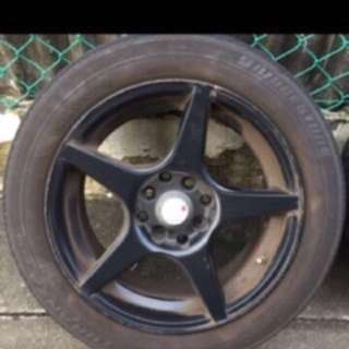 1 set staggard 15 inch rims 15X7jj and 15X8jj. 4 holes. PCD 100 and 1143