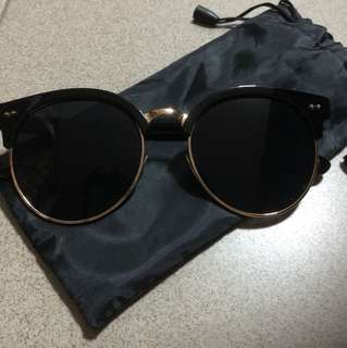 Gold-rimmed Shades/Sunglasses