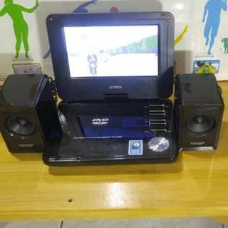 Luxury bedside DVD player